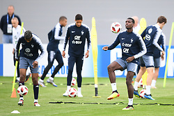 MOSCOW, July 4, 2018  France's Paul Pogba (2nd R) attends a training session near Moscow, Russia, on July 4, 2018. France will face Uruguay in a quarter-final match of the 2018 FIFA World Cup on July 6. (Credit Image: © Du Yu/Xinhua via ZUMA Wire)