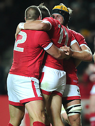 DTH van der merwe of Canada celebrates his try  - Mandatory byline: Joe Meredith/JMP - 07966386802 - 01/10/2015 - Rugby Union, World Cup - Stadium:MK -Milton Keynes,England - France v Canada - Rugby World Cup 2015