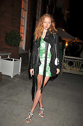 LILY COLE at the Quintessentially and Perrier-Jouet Belle Epoque Summer Party in association with Jaguar held at The Orangery, Kensington Palace, London on 18th June 2009.
