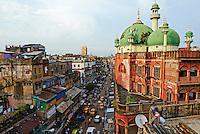 Inde, Bengale Occidental, Calcutta (Kolkata), mosquee Nakhoda // India, West Bengal, Kolkata, Calcutta, Nakhoda mosque