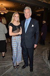 NICHOLAS WILLIAMS and his daughter GUSTY WILLIAMS at a party to celebrate the publication of Thenford: The Creation of an English Garden by Michael & Anne Heseltine held at The Grosvenor House Hotel, Park Lane, London on 24th October 2016.