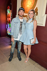 MASON NOISE and LARISSA EDDIE at a party to celebrate the launch of fashion retailer WeKoko.com held at Sketch, 9 Conduit Street, London on 13th April 2016.