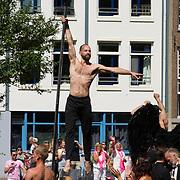 NLD/Amsterdam//20170805 - Gay Pride 2017, Paaldanser