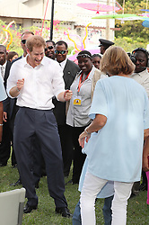 Prince Harry attends an event at Government House highlighting the important work of a number of charities operating within Antigua and Barbuda, on the second day of his tour of the Caribbean.