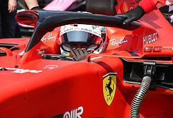 MELBOURNE, March 17, 2019  Ferrari driver Sebastian Vettel of Germany reacts before the Formula 1 Australian Grand Prix 2019 at the Albert Park in Melbourne, Australia, March 17, 2019. (Credit Image: © Bai Xuefei/Xinhua via ZUMA Wire)