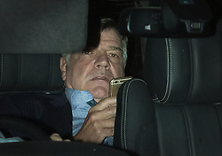 """© Licensed to London News Pictures. 27/09/2016. London, UK. Sam Allardyce is seen leaving Wembley Stadium after allegedly offering to resign. The new England football manager is facing allegations from a newspaper that he used his job to negotiate a £400,000 deal and also offered advice on how to """"get around"""" rules on player transfers. Photo credit: Peter Macdiarmid/LNP"""