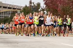 CVS Health Downtown 5k, USA 5k road championship, elite men lead field at quarter mile, Pat Fullerton (57)