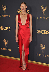 Yvonne Strahovski at the 69th Annual Emmy Awards held at the Microsoft Theater on September 17, 2017 in Los Angeles, CA, USA (Photo by Sthanlee B. Mirador/Sipa USA)
