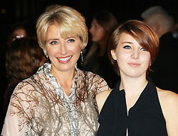 © Licensed to London News Pictures. 20/10/2013, UK. Emma Thompson; daughter Gaia Wise, The BFI London Film Festival: Saving Mr Banks - World Film Premiere, Odeon Leicester Square, London UK, 20 October 2013. Photo credit : Richard Goldschmidt/Piqtured/LNP
