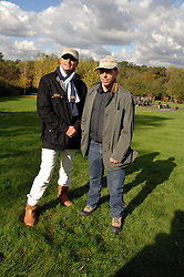 Left to right, JULIAN METCALFE and JONATHAN NEWHOUSE at the Finch & Partners Clay Pigeon Shoot in aid of Battersea Dogs Home at the Holland & Holland Shooting Ground, Ruislip, Middlesex on 17th October 2007.<br /><br />NON EXCLUSIVE - WORLD RIGHTS