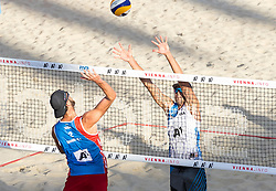 29.07.2017, Donauinsel, Wien, AUT, FIVB Beach Volleyball WM, Wien 2017, Herren, Gruppe C, im Bild v.l. Ryan Daniel Doherty (USA), Philip Peter Dalhausser (USA) // f.l. Ryan Daniel Doherty of the USA Philip Peter Dalhausser of the USA during the men's group C match of 2017 FIVB Beach Volleyball World Championships at the Donauinsel in Wien, Austria on 2017/07/29. EXPA Pictures © 2017, PhotoCredit: EXPA/ Sebastian Pucher