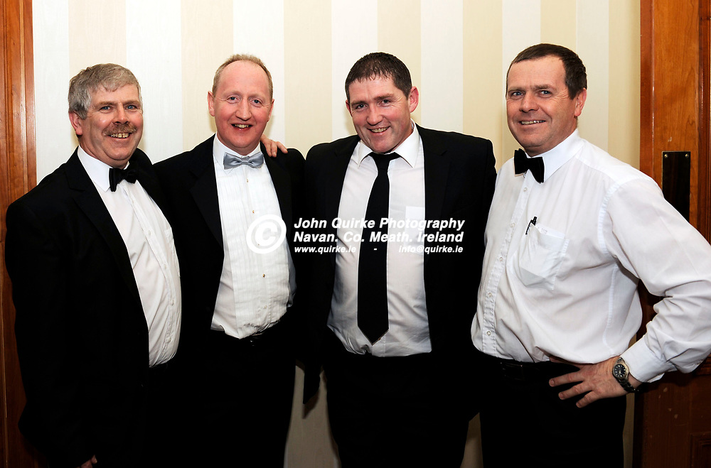 21-01-2011. Meath Chronicle/Cusack Hotel Group Sports Personalty of the Year awards 2010 presentations at the Knightsbrook Hotel, Trim.<br /> L to R: Pat Dunne, C.J. Murtagh, Nick Fitzgerald and Oliver Dunne.<br /> Photo: John Quirke / www.quirke.ie<br /> ©John Quirke Photography, Unit 17, Blackcastle Shopping Cte. Navan. Co. Meath. 046-9079044 / 087-2579454.