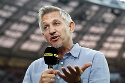 Gary Lineker during the 2018 FIFA World Cup Russia Semi Final match between Croatia and England at the Luzhniki Stadium on July 01, 2018 in Moscow, Russia