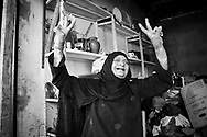 Beirut, Lebanon - September 18, 2010: A Palestinian woman in Shatila refugee camp, home to several thousand Palestinians.