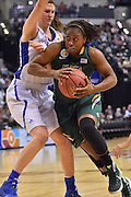April 4, 2016; Indianapolis, Ind.; Keiahnna Engel drives hard to the basket in the NCAA Division II Women's Basketball National Championship game at Bankers Life Fieldhouse between UAA and Lubbock Christian. The Seawolves lost to the Lady Chaps 78-73.
