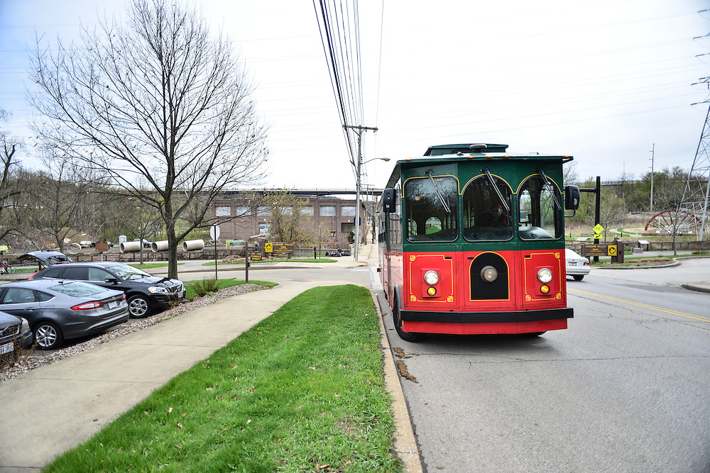 Akron Trolley at Block to Lock: Bike for the Earth Day.