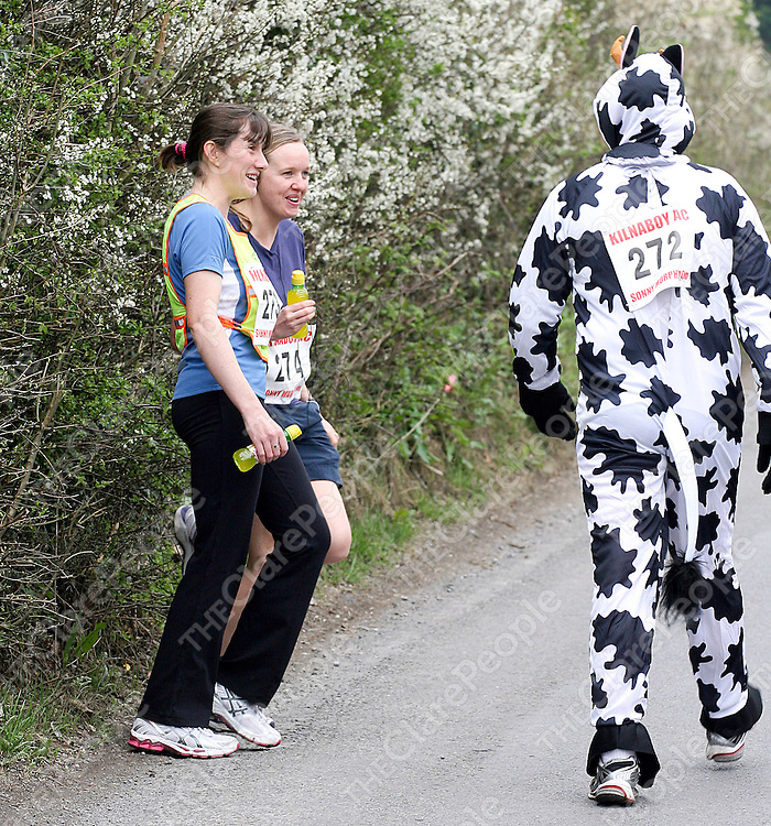 Edel Copeland and Rose Clancy,Kilmihil, enjoying themselves at the Michael Sunny Murphy Memorial Roadrace at Kilnaboy on Sunday.Pic Press22.