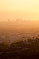 West L.A. Skyrises at Sunset from Griffith Park, Los Angeles, California