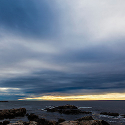 Morning clouds over the Atlantic Ocean in Rye, New Hampshire.