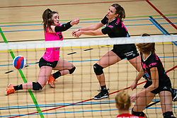 Susanne Kos of Fast, Maus Smeets of Fast in action during the league match Laudame Financials VCN - FAST on January 23, 2021 in Capelle aan de IJssel.
