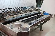 China, Beijing, Silk factory visitor Center, loom