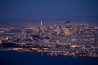 Scenic of San Francisco at twighlight. San Francisco, CA