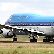 Start Boeing 747 KLM Missouri op de Polderbaan Schiphol