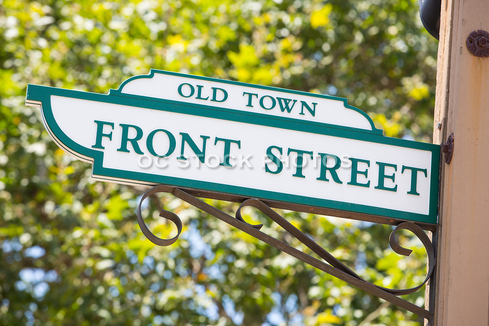 Old Town Front Street Sign Temecula