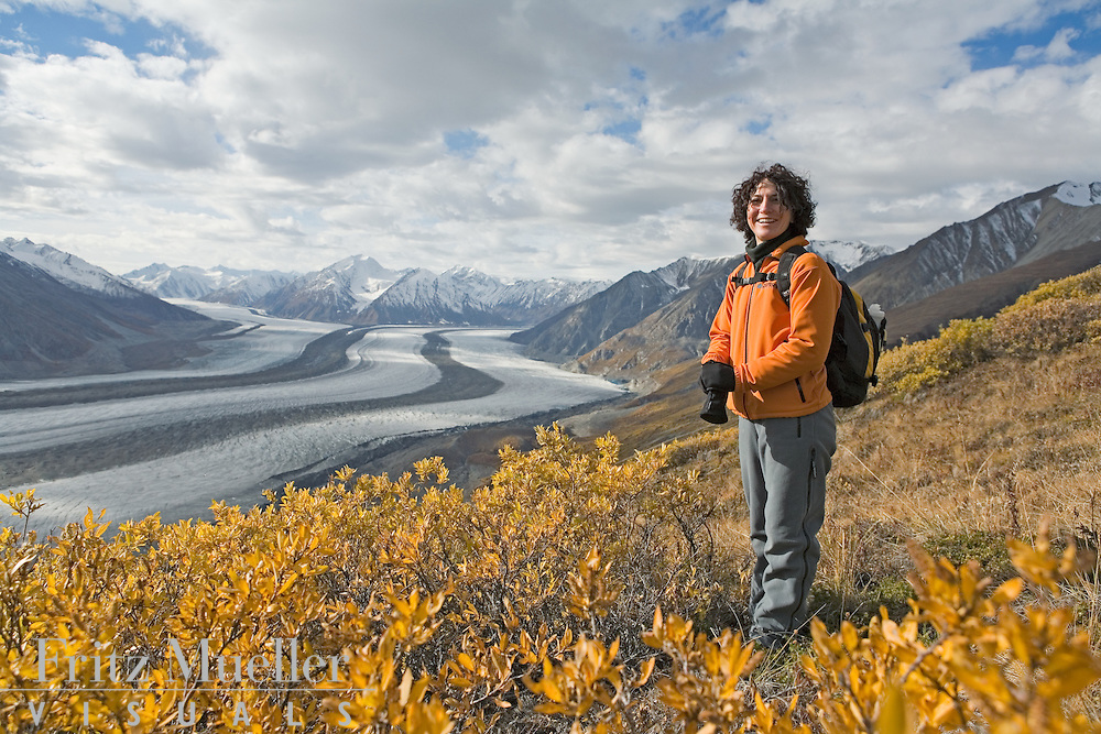 Hiking at Kaskawulsh Glacier in Kluane National Park, Yukon