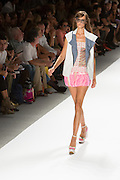 Mini dress with a cap-sleeved vest. By Custo Barcelona at the Spring 2013 Fashion Week show in New York.