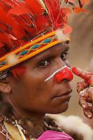 Woman from Chimbu Province, Papua New Guinea..