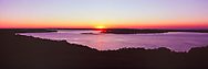 Southhold Bay from Shelter Island, New York, Sunset, panorama