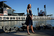 Fran Weld, who is the Vice President of Strategy and Development of the San Francisco Giants, outside AT&T Park on Wednesday, Oct. 4, 2017, in San Francisco, Calif.