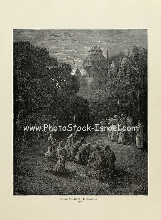 Benediction Plate LVII from the book Story of the crusades. with a magnificent gallery of one hundred full-page engravings by the world-renowned artist, Gustave Doré [Gustave Dore] by Boyd, James P. (James Penny), 1836-1910. Published in Philadelphia 1892