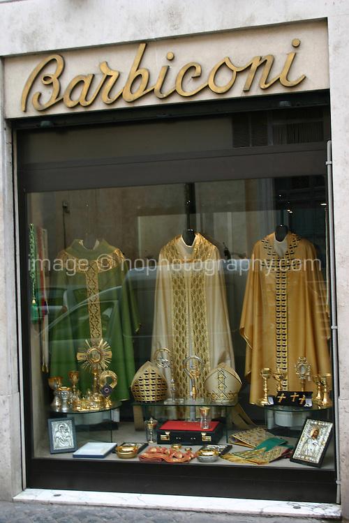 Specialist religious shop in Rome, Italy, Barbiconi<br />