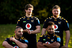 Michael Le Bourgeois, Jack Owlett, Zurabi Zhvania of Wasps and Sione Vailanu of Wasps - Mandatory by-line: Robbie Stephenson/JMP - 18/11/2019 - RUGBY - Broadstreet Rugby Football Club - Coventry , Warwickshire - Wasps Squad Photo