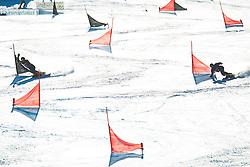 Snowboarders during parallel giant slalom FIS Snowboard Alpine world championships 2021 on 1st of March 2021 on Rogla, Slovenia, Slovenia. Photo by Grega Valancic / Sportida