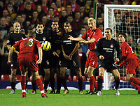 Photo: Javier Garcia/Back Page Images Mobile +447887 794393 Liverpool v Olimpiacos, UEFA Champions League 08/12/04, Anfield<br />