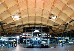 Bar and tasting area of new Scotch Whisky distillery at The Macallan distillery in Craigellachie in Moray, Scotland, UK