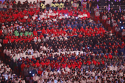 February 25, 2018 - Pyeongchang, KOREA - Athletes from the different countries during the closing ceremony for the Pyeongchang 2018 Olympic Winter Games at Pyeongchang Olympic Stadium. (Credit Image: © David McIntyre via ZUMA Wire)