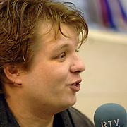 NLD/Heerenveen/20060121 - ISU WK Sprint 2006, Mathijs Groenwoud, presentator sport RTV Noord Holland