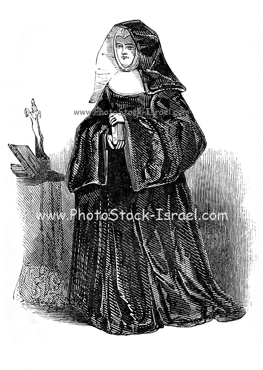The Abbess From the book The wanderings of a pen and pencil by Palmer, F. P. (Francis Paul); Illustrated by Crowquill, Alfred, [Alfred Henry Forrester]  Published in London by Jeremiah How in 1846