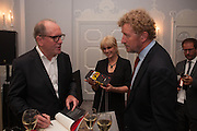 WILLIAM BOYD; JOANNA LUMLEY; BASTIAN FAULKS The launch of 'Solo', the new James Bond novel written by William Boyd,  The Dorchester , PARK LANE, LONDON. 25 SEPTEMBER 2013.