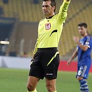 Referee's Serkan Cinar during their Ziraat Turkey CUP soccer match Fenerbahce between Kayserispor at the Sukru Saracaoglu stadium in Istanbul Turkey on Tuesday 02 December 2014. Photo by Kurtulus YILMAZ/TURKPIX