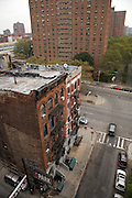 old and older residential apartment buildings lower East side China Town Manhattan
