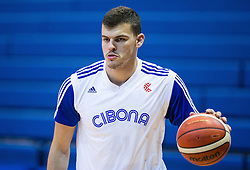Ante Zizic of Cibona at warming up prior to the basketball match between KK Cibona Zagreb (CRO) and SIG Strasbourg in Round #6 of FIBA Champions League 2016/17, on November 23, 2016 in Drazen Petrovic Basketball center, Zagreb, Croatia. Photo by Vid Ponikvar / Sportida