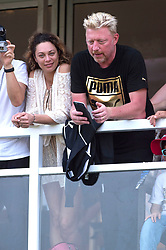 October 23, 2016 - Haikou, Hainan, China - Boris Becker and his wife Lilly Becker during the World Celebrity Pro-Am 2016 Mission Hills China Golf Tournament at Blackstone Course on October 23, 2016 in Haikou, Hainan Province of China. (Credit Image: © Future-Image via ZUMA Press)