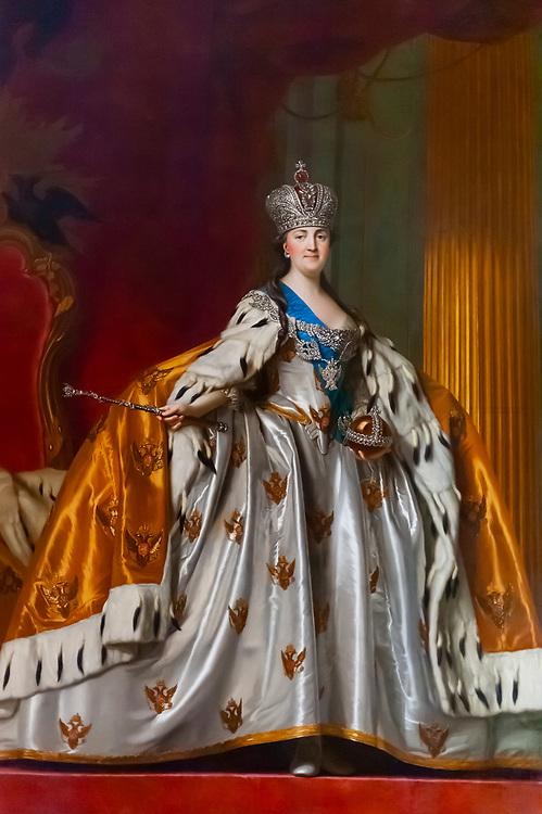 Portrait of Catherine the Great, New Palace (Neues Palais), Sanssouci Park (a UNESCO World Heritage site), Potsdam, Germany