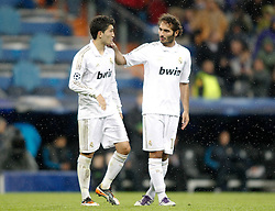22.11.2011, Estadio Santiago Bernabeu, Madrid, ESP, UEFA CL, Gruppe D, Real Madrid (ESP) vs Dinamo Zagreb (CRO) im Bild Real Madrid's Nuri Sahin and Hamit Altintop // during the football match of UEFA Champions league, group D, between Real Madrid (ESP) and Dinamo Zagreb (CRO) at Santiago Bernabeu Stadium, Madrid, Spain on 2011/11/22. EXPA Pictures © 2011, PhotoCredit: EXPA/ Alterphotos/ Alvaro Hernandez..***** ATTENTION - OUT OF ESP and SUI *****