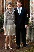 Hare Koninklijke Hoogheid Prinses Alexia, de jongste dochter van Zijne Koninklijke Hoogheid de Prins van Oranje en Hare Koninklijke Hoogheid Prinses Máxima, is zaterdag 19 november 2005 gedoopt in de Dorpskerk in Wassenaar. <br /> <br /> Baptism of Princess Alexia, the youngest daughter of Prince Willem-Alexander and Princess Máxima. Princess Alexia (born June 26, 2005) has been baptized in the church in Wassenaar. The ceremony was attended by The Dutch Royal Family and the parents of Princess Máxima.  <br /> <br /> Op de foto / On the photo:<br /> <br /> <br /> Zijne Koninklijke Hoogheid Prins Friso van Oranje-Nassau, Hare Koninklijke Hoogheid Prinses Mabel van Oranje-Nassau en Luana Gravin van Oranje-Nassau, Jonkvrouwe van Amsberg <br /> <br /> His royal highness prince Friso van Oranje-Nassau, her royal highness princess Mabel van Oranje-Nassau and Luana gravin of Oranje-Nassau, Jonkvrouwe of Amsberg